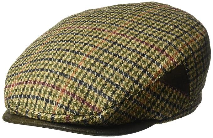 c7fc242faa7f5 Henschel Men s 100% Italian Wool Herrringbone Plaid Ivy Hat at ...