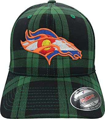 7f5fa7628e6 Colorado Flag Bronco. Hat. 6197 Flex Fitted. Curved Bill. Tartan ...