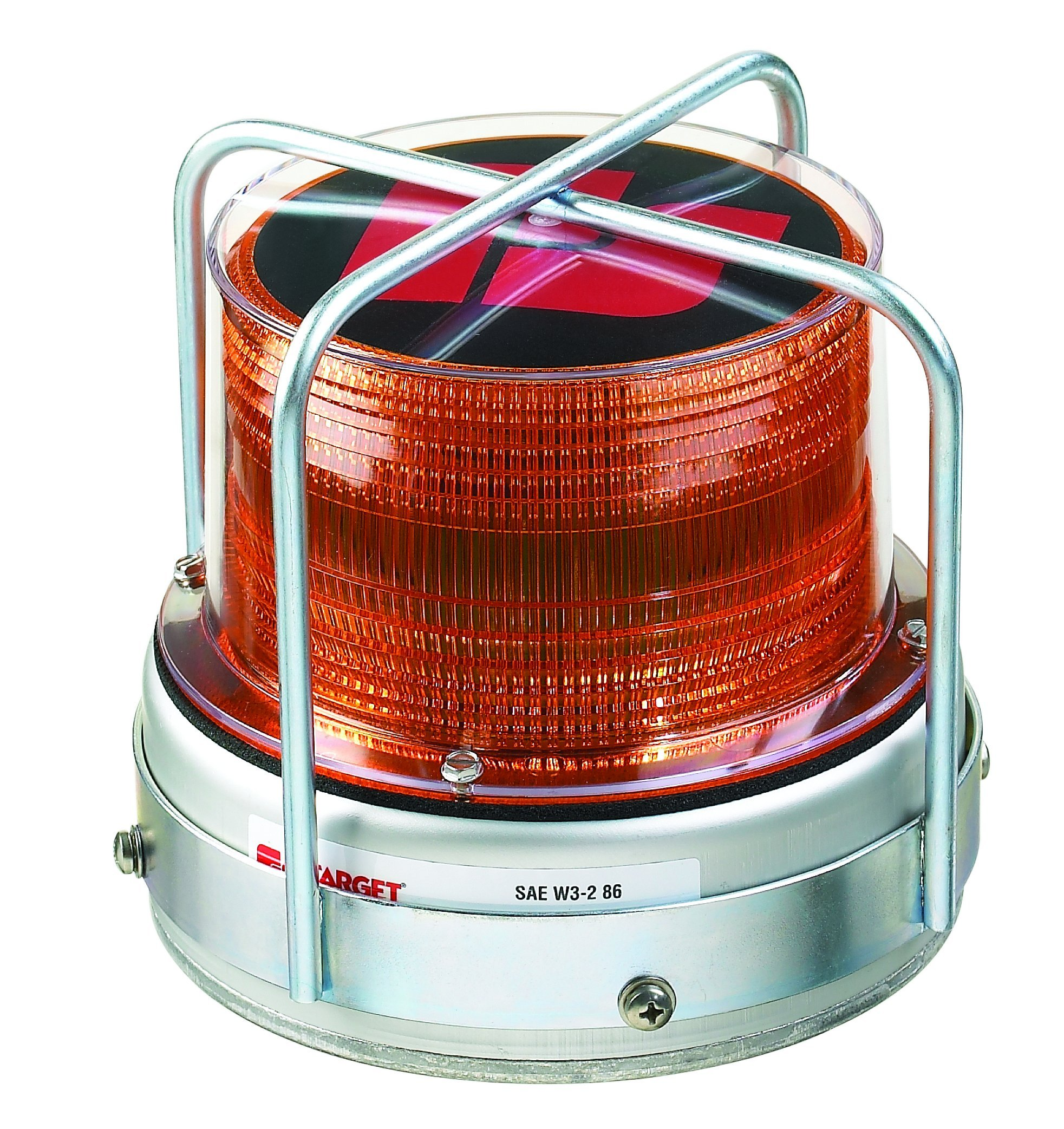 Federal Signal 420222-02 651 LED Utility Beacon, Class 2, Permanent Mount with Branch Guard and Amber Dome by Federal Signal
