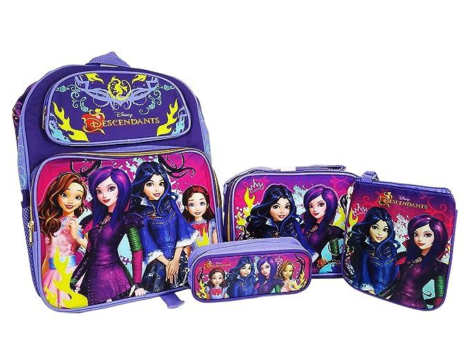 Disney Mochila de descendientes, bolsa de almuerzo, bolsa de lš¢piz y conjunto combinado de bolsa de cuerpo cruzado: Amazon.es: Ropa y accesorios