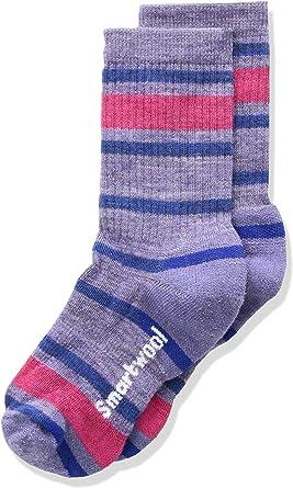 Smartwool Kinder Kids Striped Hike M Crew Socks Medium Gray S