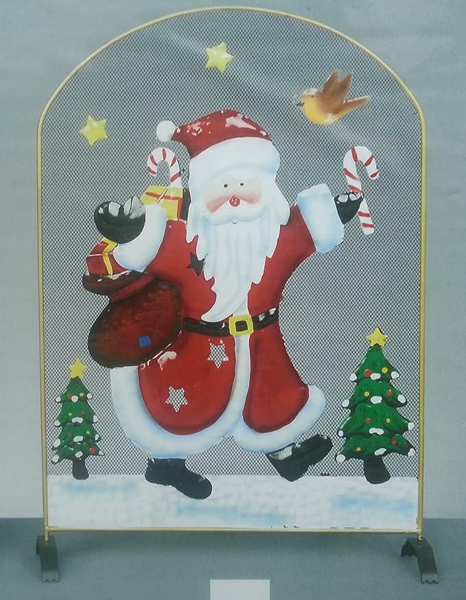 Premier AC131630 - Mampara para chimenea con diseño de Santa Claus ...