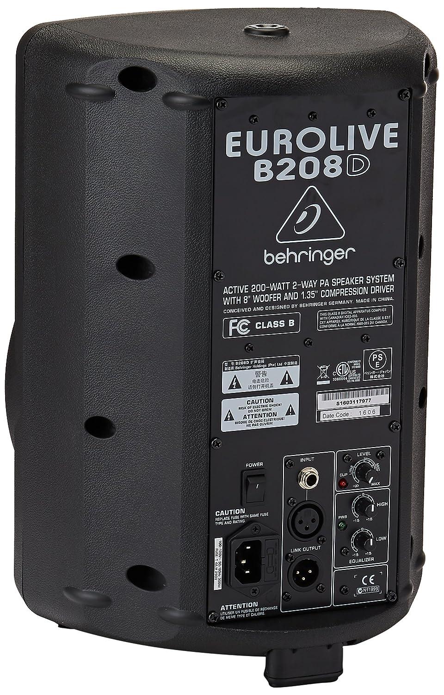 back facing behringer eurolive b208d