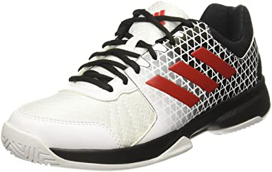 Adidas Men's Net Nuts White/Scarle/Cblack Tennis Shoes - 6 UK/India
