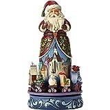 Enesco Hearwood Creek By Jim Shore Hwc Natale Magico Babbo Natale con Treno Rotativo, Pvc, Multicolore, 19x20x26 cm