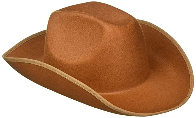 Amazon.com  Forum Novelties Felt Cowboy Hat (Brown)-Standard  Clothing 175c78a85963