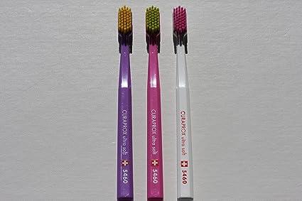 Ultra Soft Cepillo de dientes, 4 cepillos, CURAPROX Ultra Soft 5460. Mejor limpieza