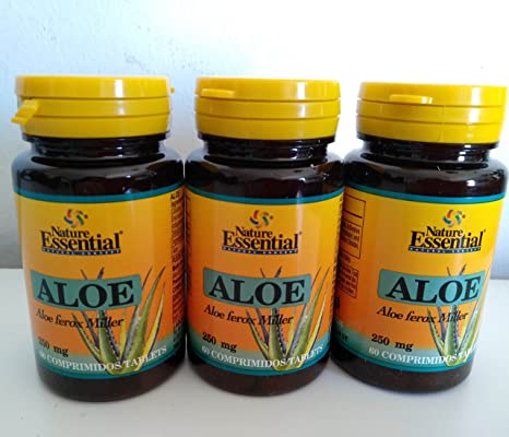 Aloe Vera 500 mg 60 tabletas. Pack de 3
