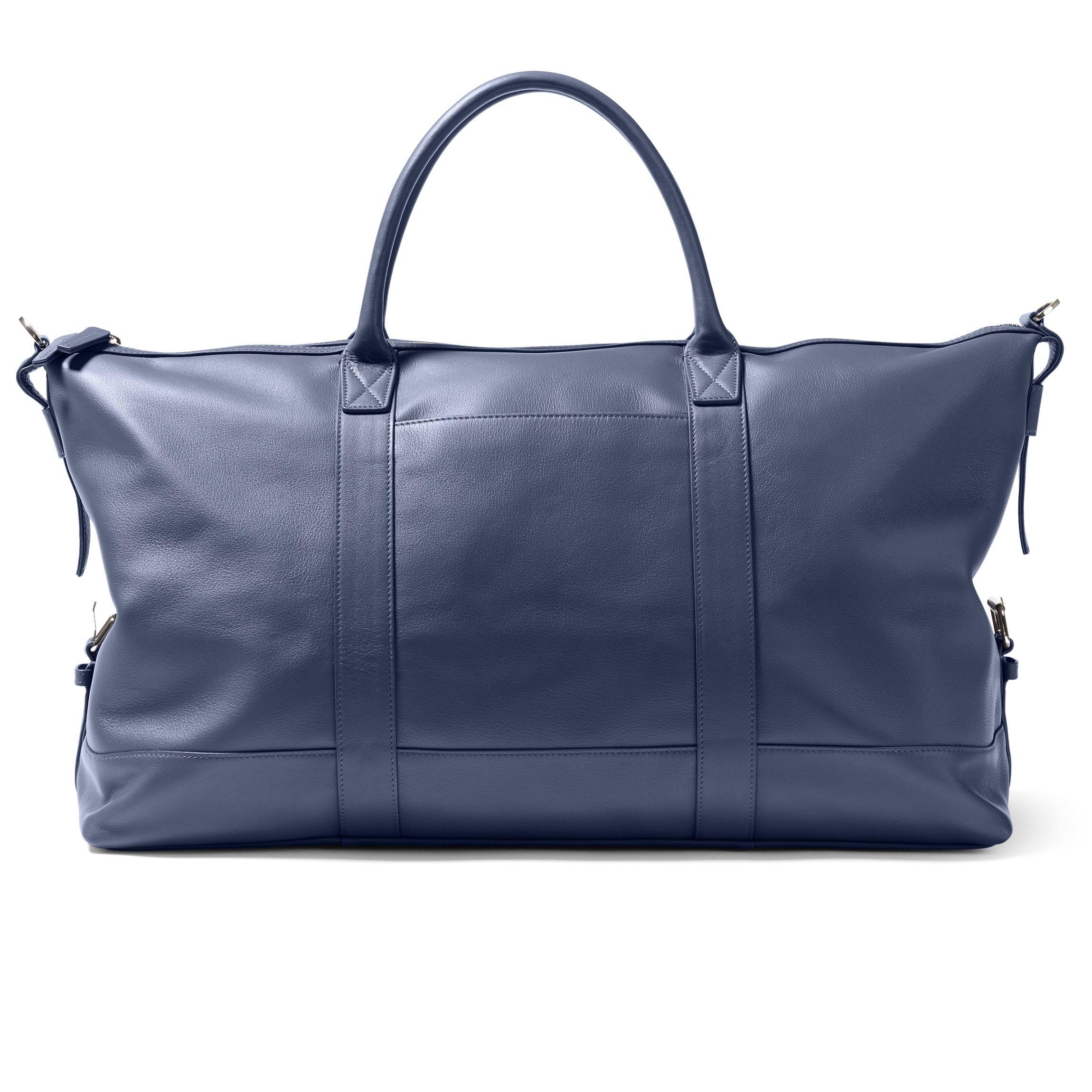 Kessler Medium Duffle - Full Grain Leather Leather - Navy (blue) by Leatherology (Image #5)