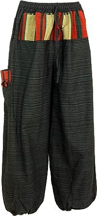 Guru Shop Pantalones De Yoga Ligero Pantalones Thai Chi Pantalones Goa Pantalones De Ocio Negro Algodon Tamano 52 Pantalones De Hombre Amazon Es Ropa Y Accesorios