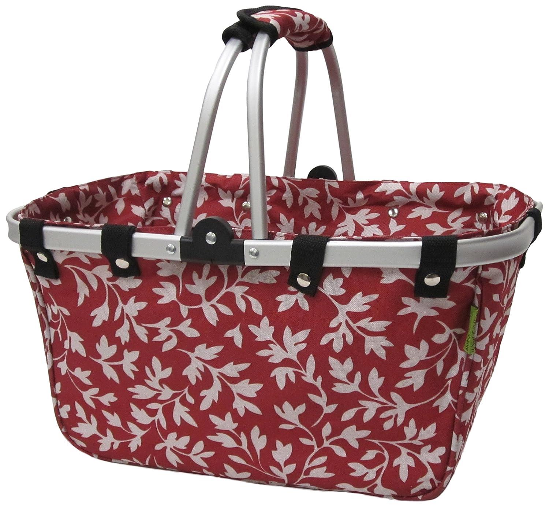 Amazon.com: janetbasket grande Floral Color Rojo Marco de ...