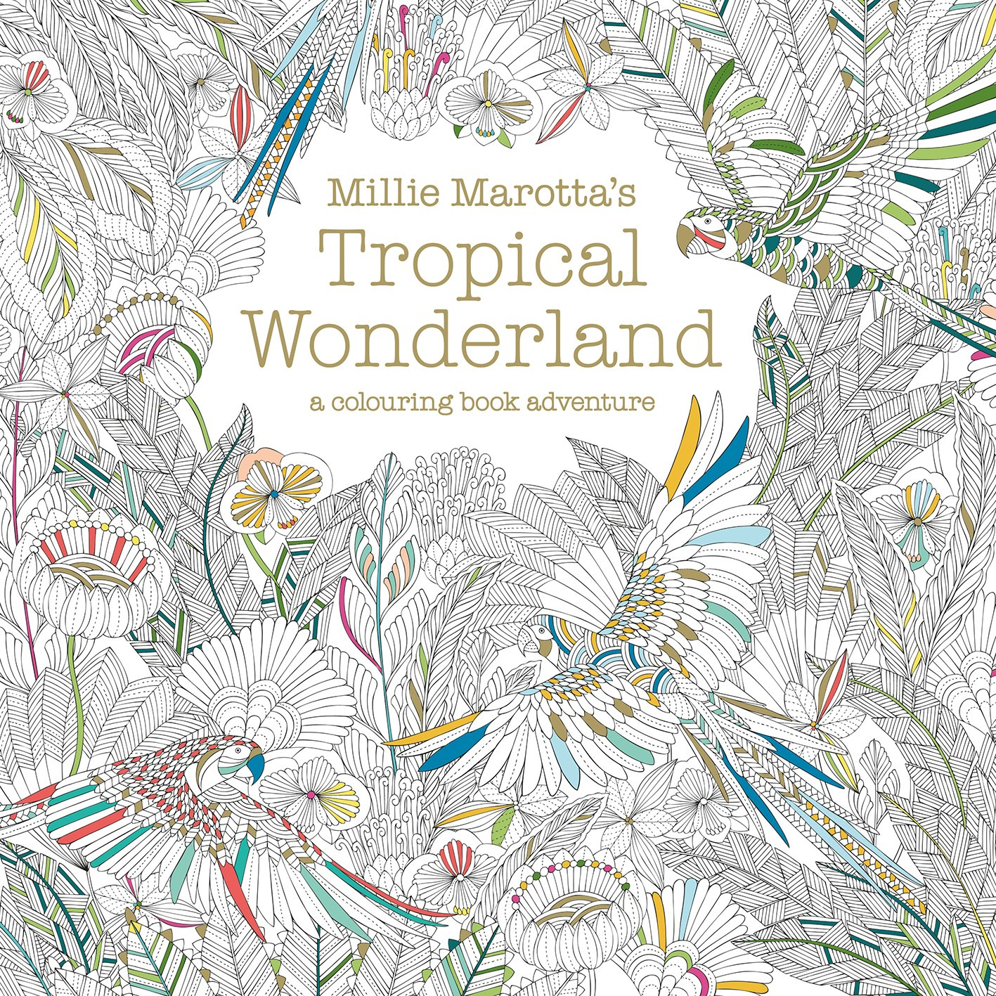 Millie Marottas Tropical Wonderland A Colouring Book Adventure Books Marotta 0787721945802 Amazon