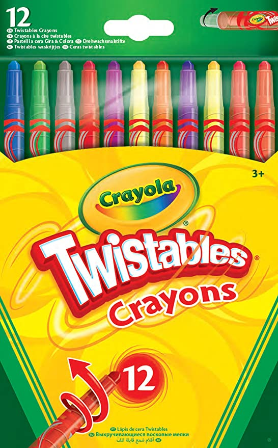 CrayolaTwistables Crayons, Pack of 12 - Multicolour,Vivid Imaginations,52-8530-E-000