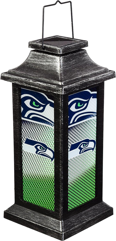Team Sports America Seattle Seahawks Solar-Powered Outdoor Safe Hanging Garden Lantern