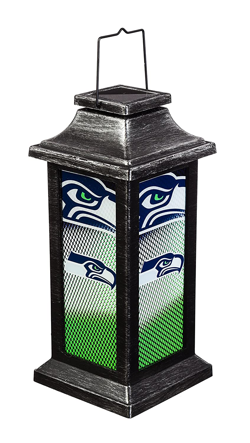 Team Sports America NFL Solar Powered Outdoor Safe Hanging Garden Lantern