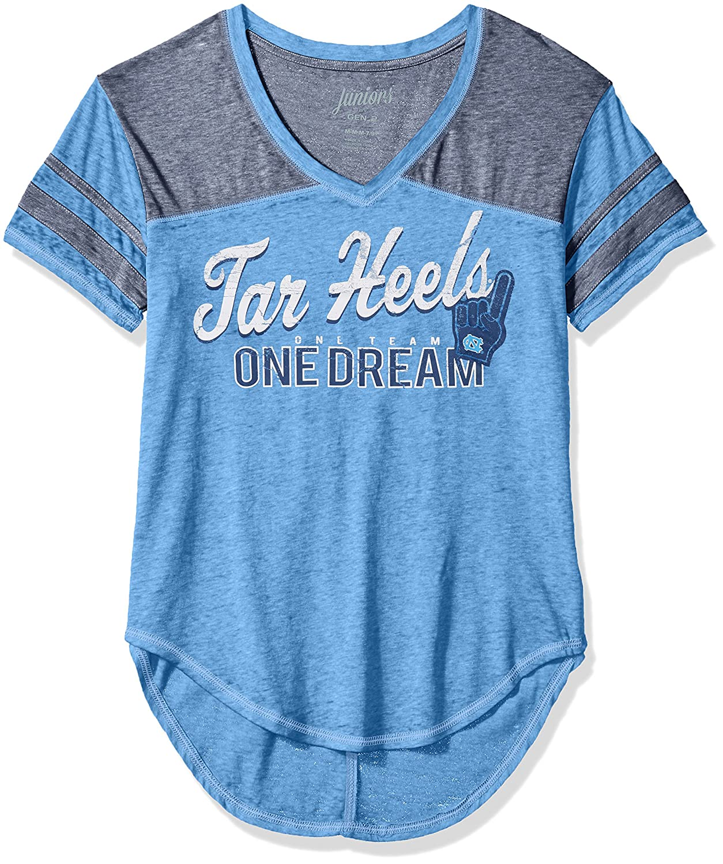 NCAA North Carolina Tar Heels Juniors Outerstuff Vintage Short Sleeve Football Tee X-Large 15-17 Team Color