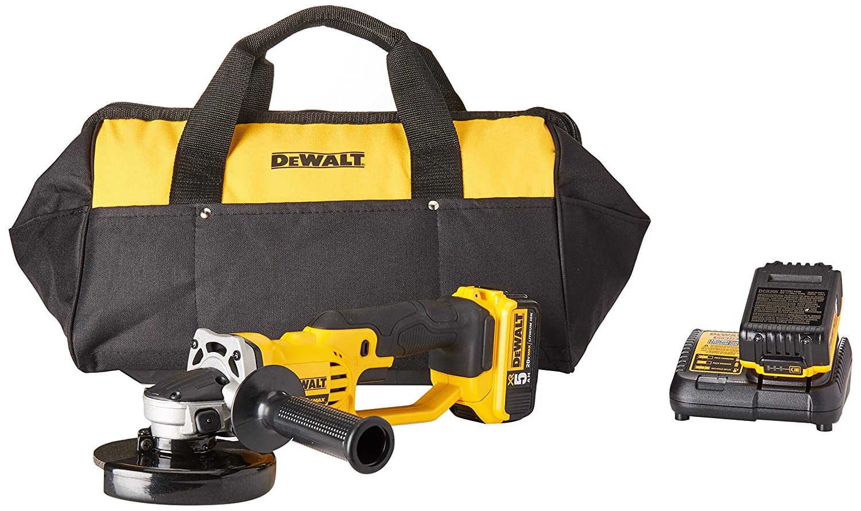 DEWALT DCG412P2 20V MAX Lithium Ion Grinder Tool Kit