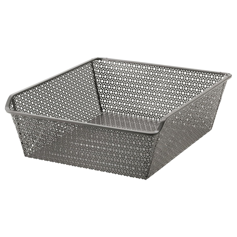 IKEA KOMPLEMENT - Una cesta de metal con el carril de color ...