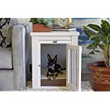 New Age Pet ECOFLEX Dog Crate End Table with Spindles; Antique White Medium, EHHC404M-ROCKY, Anitque White