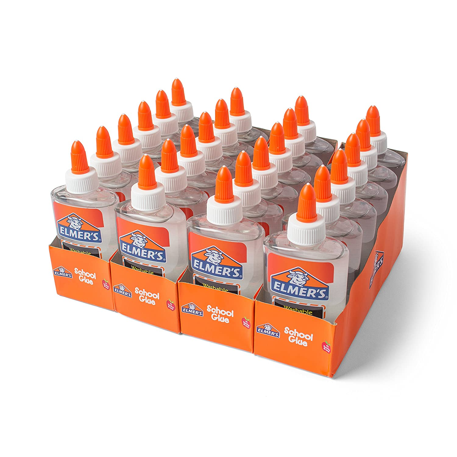 Elmer's Liquid School Glue, Clear, Washable, 5 Ounces, 24 Count - Great for Making Slime Elmer' s Products E305W