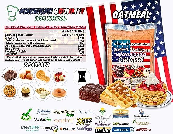 American Suplement - 1000 gr - Harina de Avena Integral, ideal para tortitas, batidos, bizcochos y magdalenas (DULCE DE LECHE): Amazon.es: Salud y cuidado personal