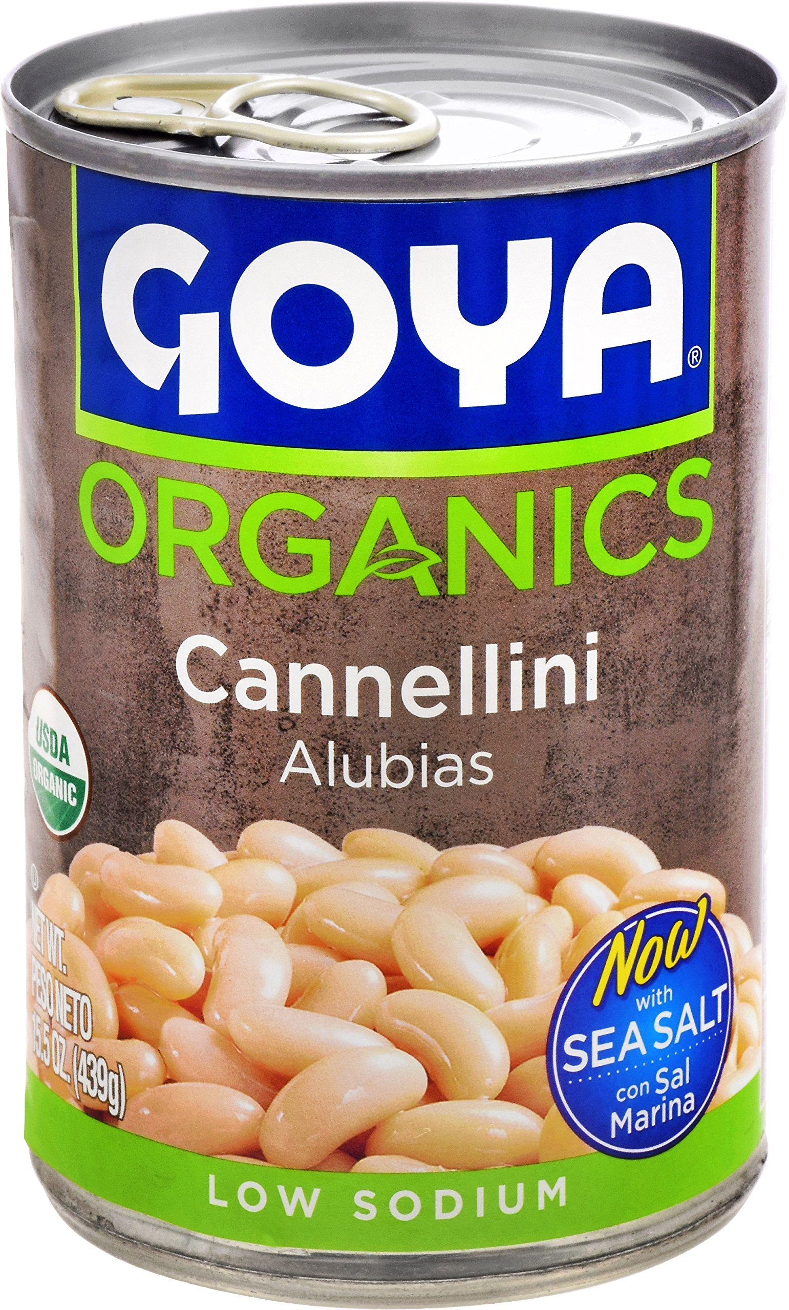 Goya Foods Organic Cannellini Beans, 15.5 Ounce (Pack of 24)
