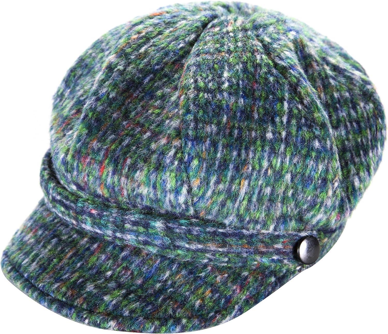 Blue Colour Carrolls Irish Gifts Kids Newsboy Style Tweed Cap