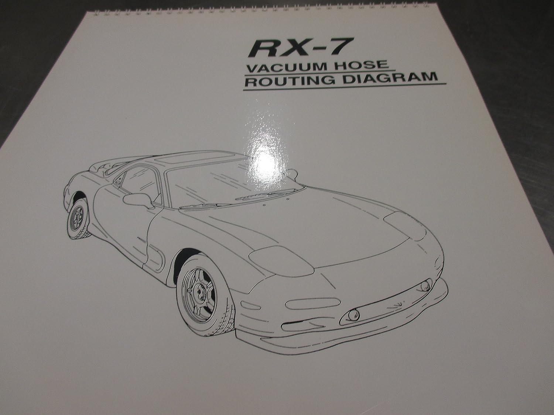 Mazda RX-7 1993-1995 New OEM vacuum hose diagram