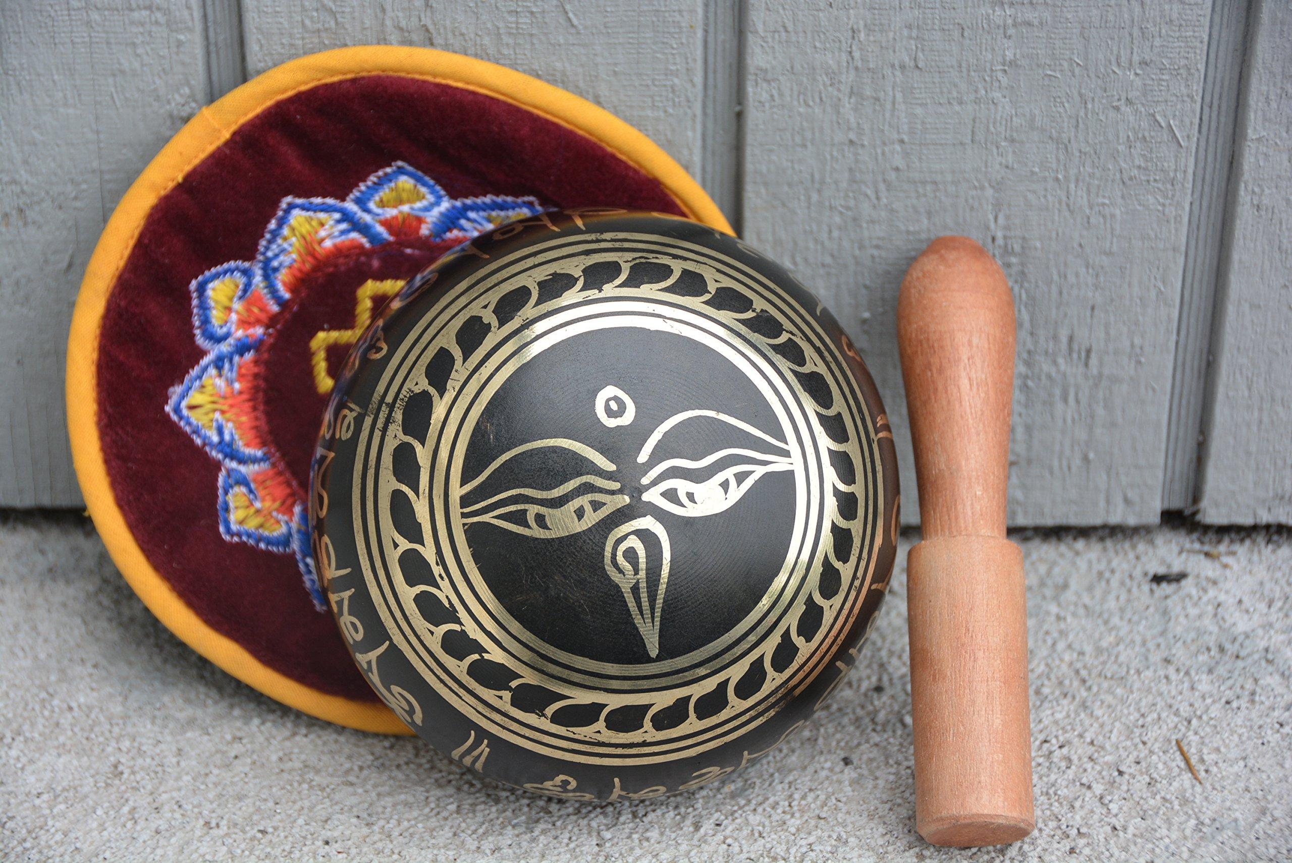 Tibetan Singing Bowls with Striker, 4.5'' Wide