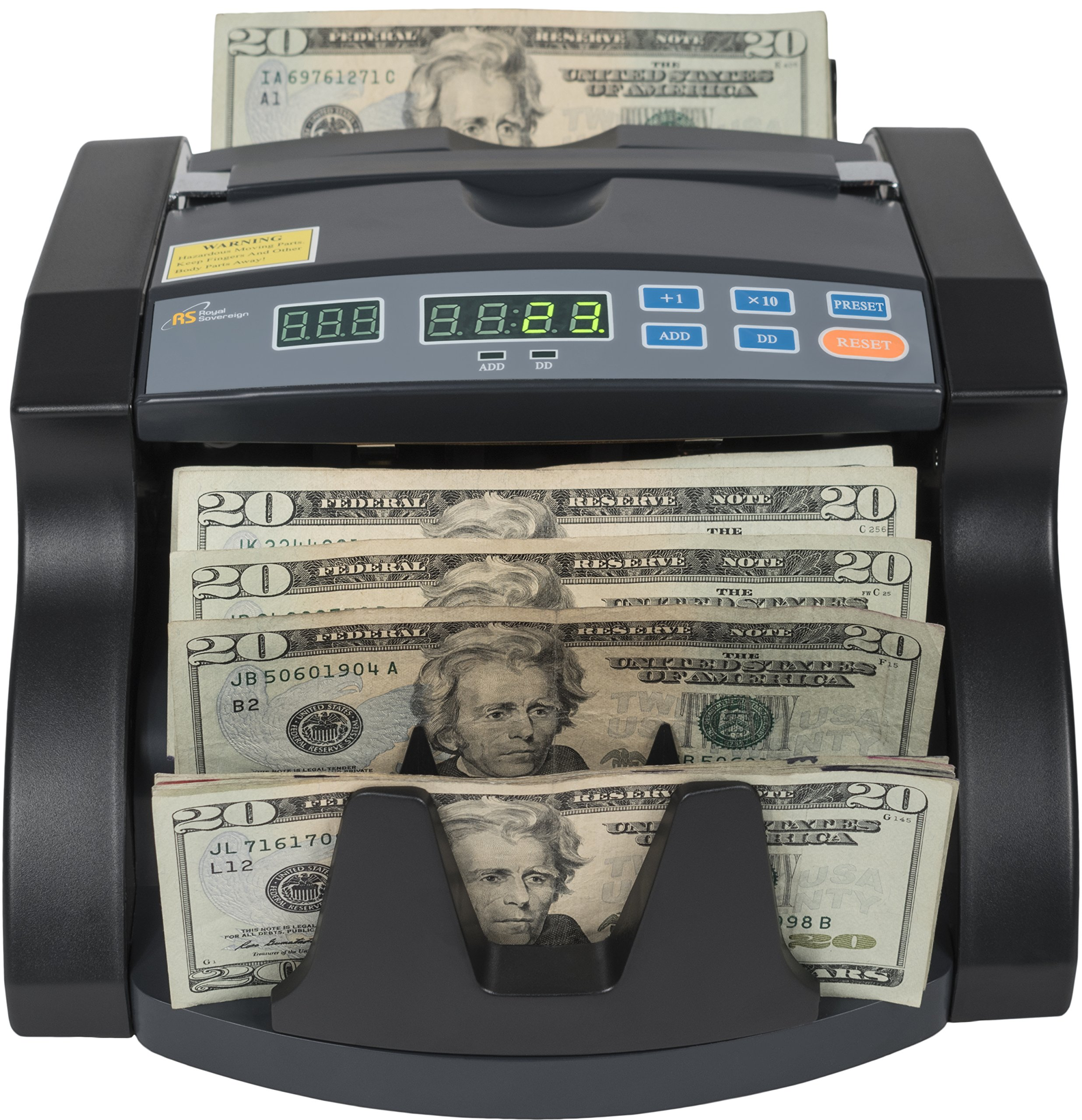 Royal Sovereign Money Counting Machine, High Speed Bill Counter, Rear Dollar Bill Load (RBC-650PRO)