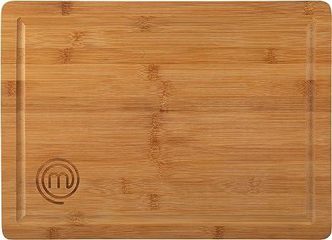 MasterChef Tagliere in Bambù, per Preparare, Affettare e Servire Alimenti, Dimensioni 38.5 x 27.5 cm