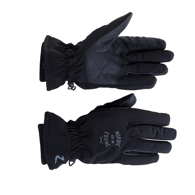 Horze Addison冬手袋 B00NWKITHG 9|ブラック ブラック 9