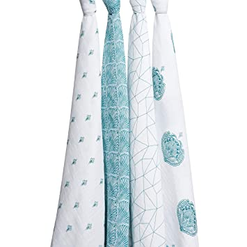 New aden Anais Swaddle Blanket Paisley