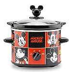 Olla de cocción lenta de 2 cuartos, Mickey Mouse 2-Quart Slow Cooker, Rojo/Negro, 1.9 litros, 1