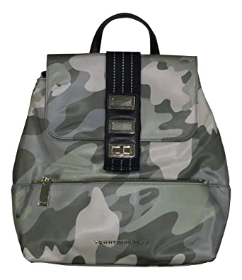 f9218fc3977d Amazon.com  Tommy Hilfiger Camouflage Print Backpack (Green)  Clothing