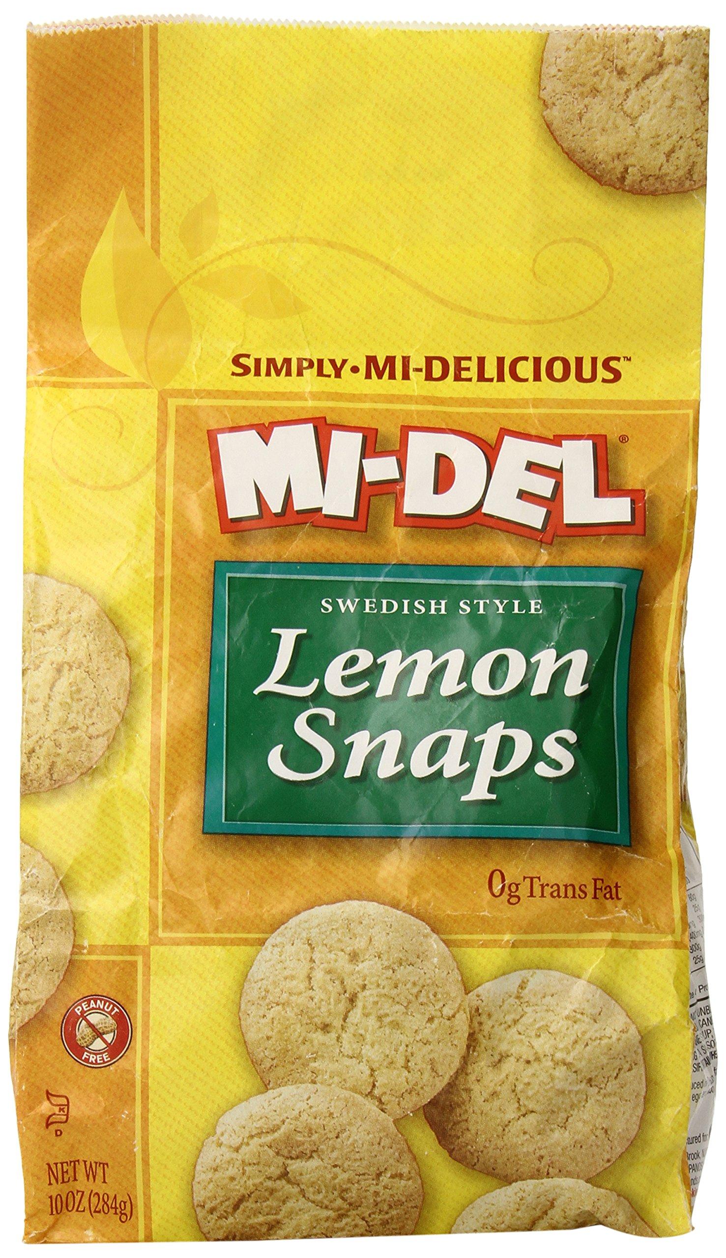 MI-DEL Classic Lemon Snap Cookies 10 oz (8 Pack)