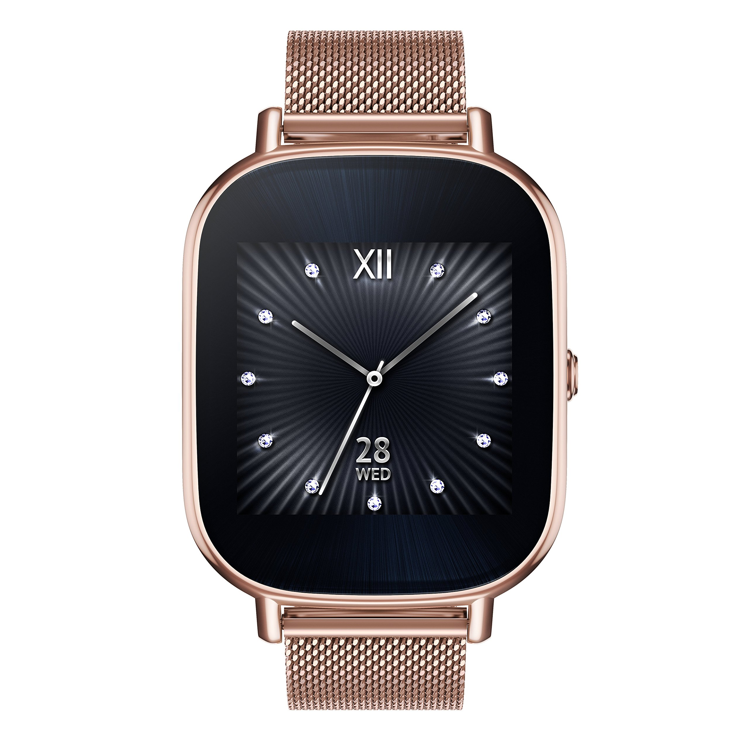 ASUS ZenWatch 2 Rose Gold 37mm Smart Watch with Quick Charge Battery, 4GB Storage, 1.45-inch AMOLED Gorilla Glass 3 TouchScreen, IP67 Water Resistant by Asus