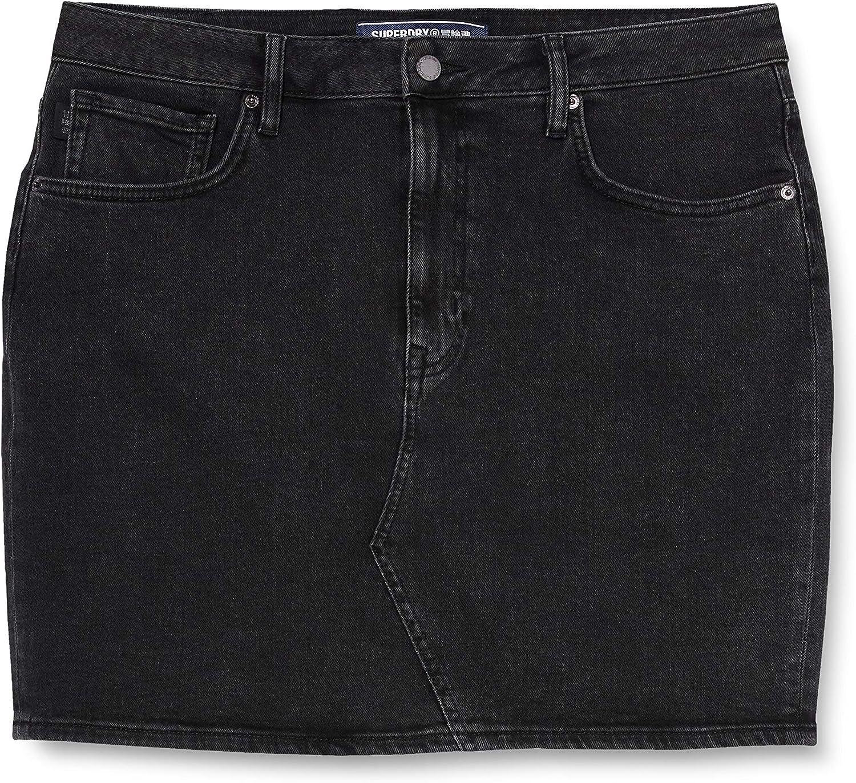 Superdry High Rise Mini Skirt Falda para Mujer