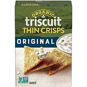 Triscuit Thin Crisps Organic Original Crackers, 6.5 Oz