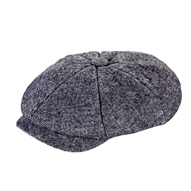 53e70100 Heritage Traditions Womens Men Wool Tweed Mix Salt and Pepper Newsboy Cap  Hat: Amazon.co.uk: Clothing