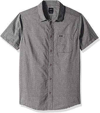 RVCA Camisa de equilibrio con botones para hombre: Amazon.es: Ropa y accesorios
