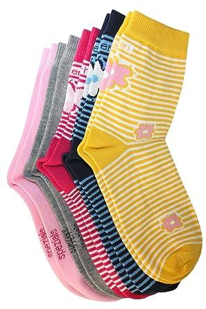 Weri Spezials 5 Paires Enfants Chaussettes Creme//Rose//Violet//Gris//Pink