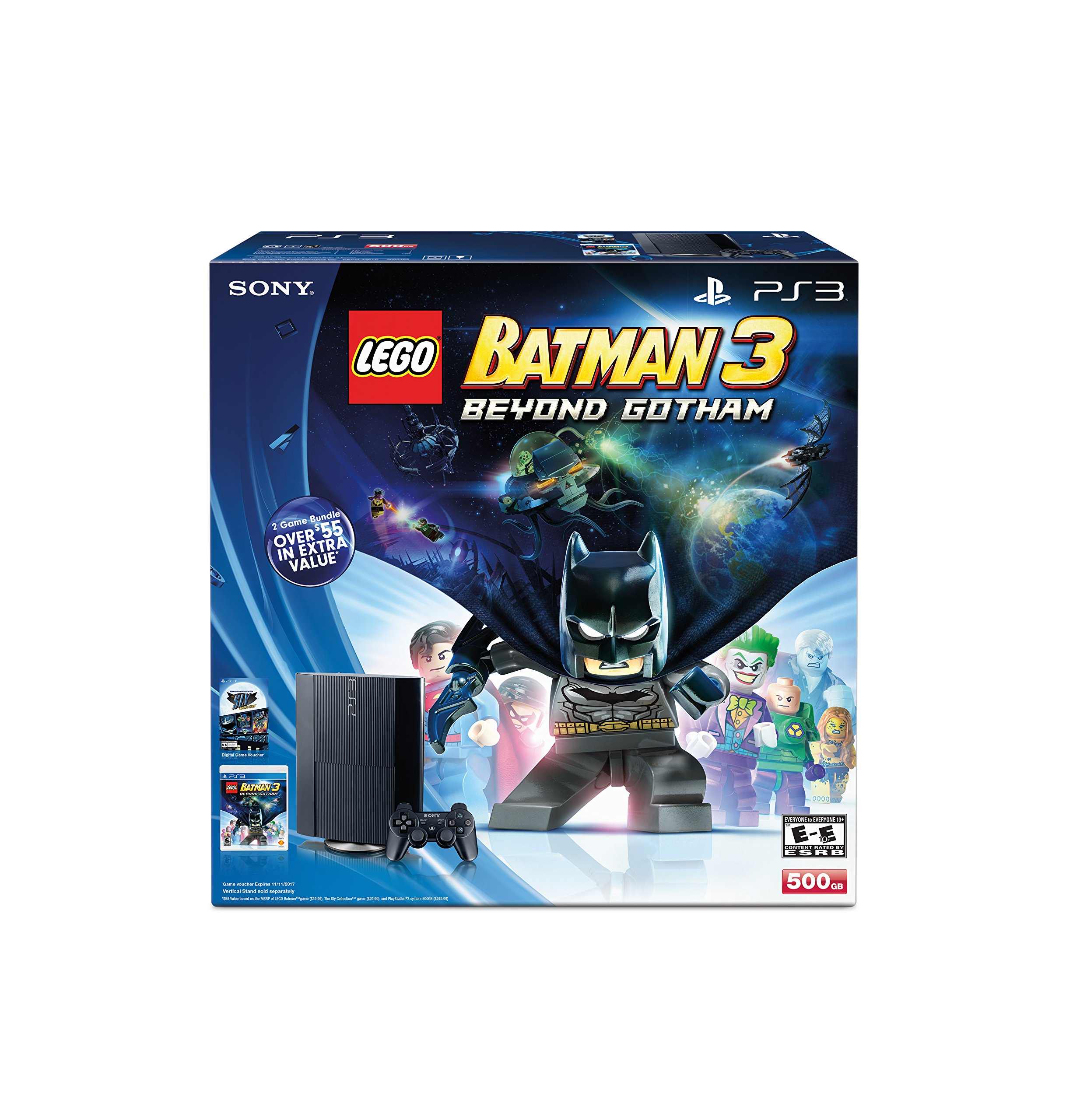 Lego Batman 3: Beyond Gotham + The Sly Collection PlayStation 3 500GB Bundle by Sony