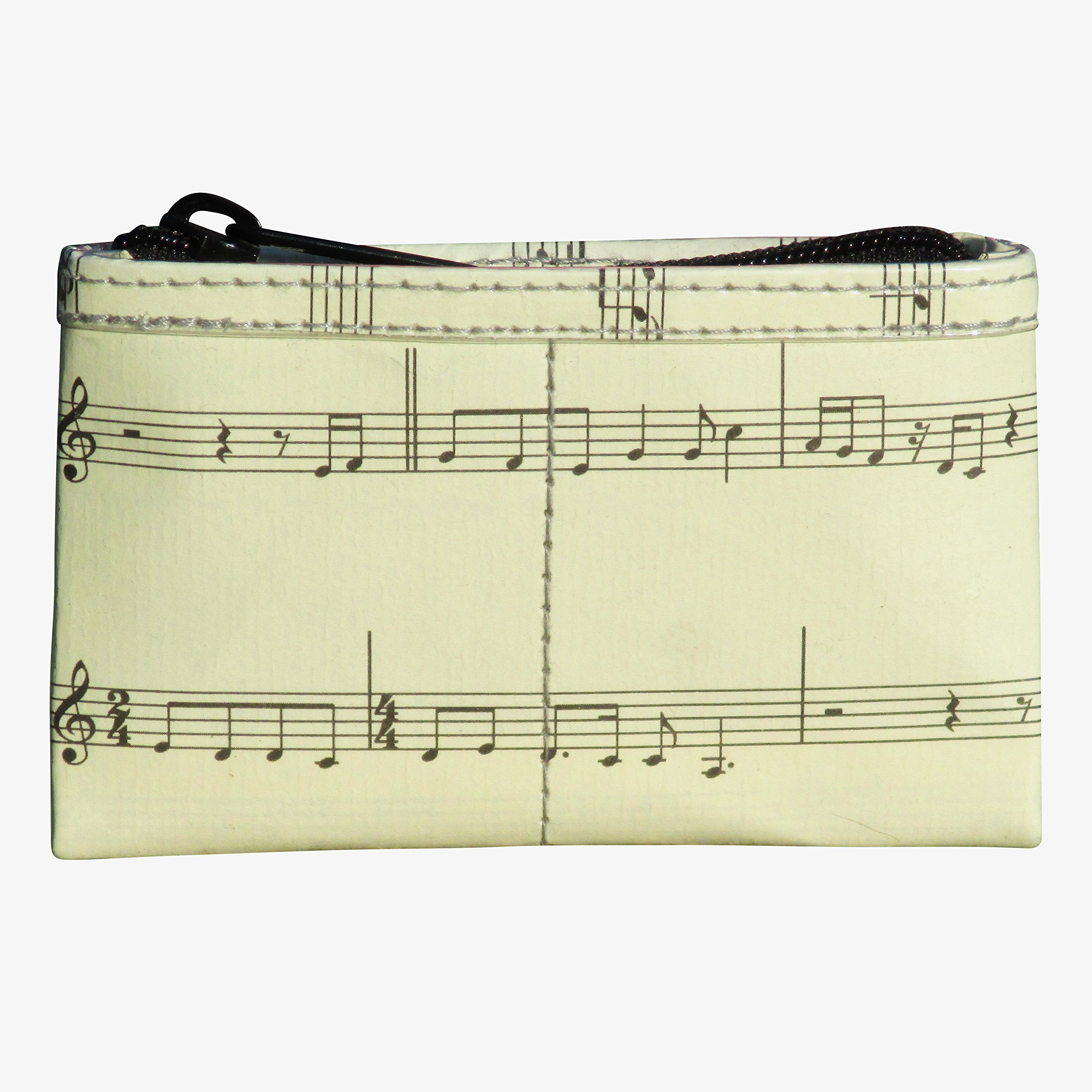 Zip coin purse made from musical note sheet - PRIME, gift gifts for musician musicians piano violin player teacher players teachers pianist violinist dancer dancers choir singer singers music notes