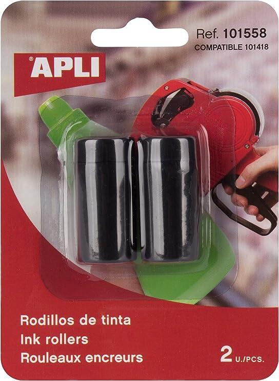 APLI 101558 - Recambio rollo tinta para máquina etiquetadora de 1 línea: Amazon.es: Oficina y papelería