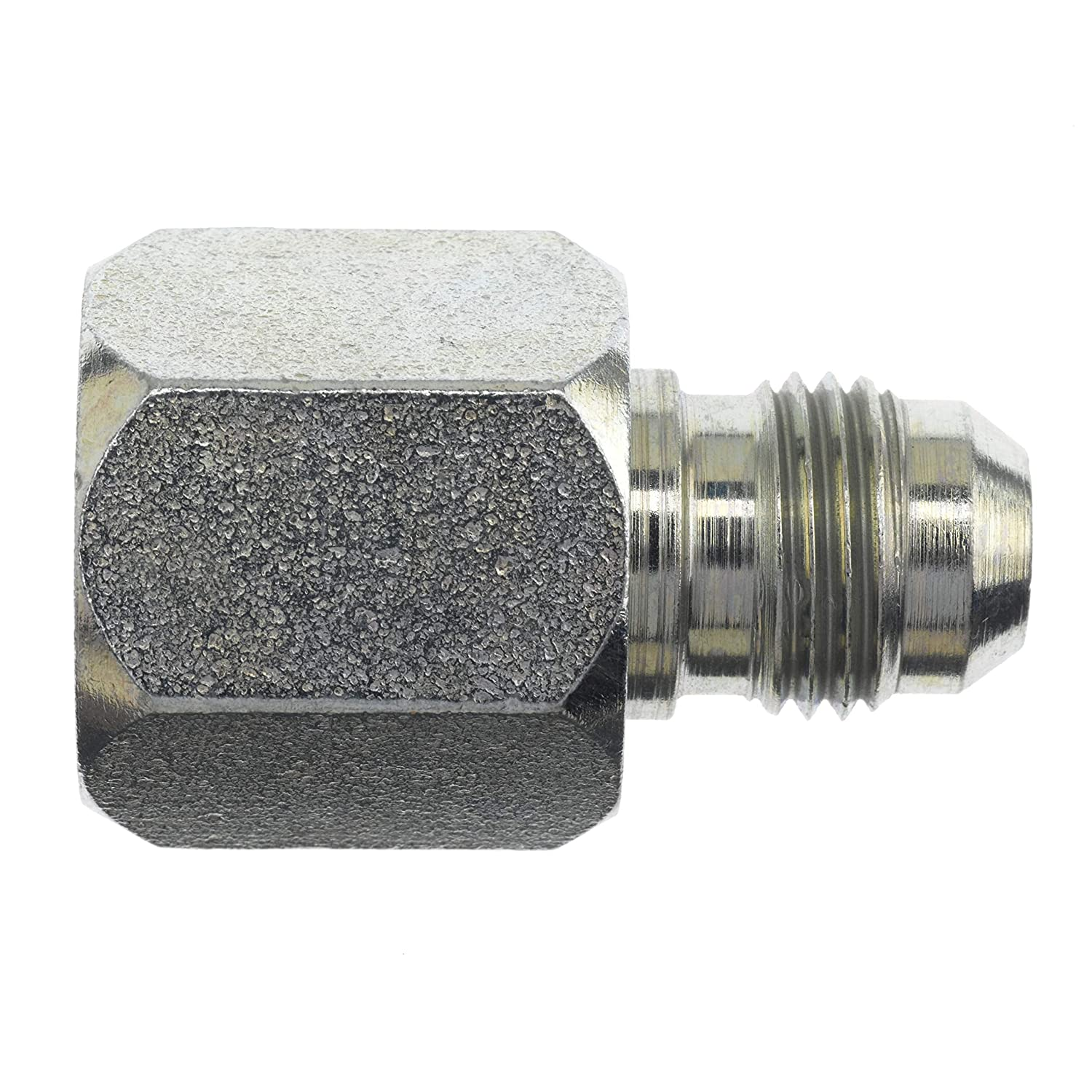1.22 Length 1-5//16-12 SAE x 9//16-18 SAE Thread Brennan Industries 2406-16-06-2PC Steel Nut and Insert Straight Reducer 1 Female JIC x 3//8 Male JIC 1.500 Hex