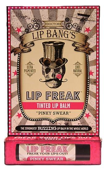 Dr. Lip Bangs - 100% Natural Lip Freak Tint Lip Balm Pinky Swear - 0.15 oz. (pack of 12) (6 Pack) SECRET KEY Sweet Glam Tint Glow - Lollipop Pink