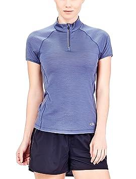 a2f9fa1c3 Icebreaker Women s Cool-Lite Comet Lite Short Sleeve Half Zip Lightweight  Top - Gumtree