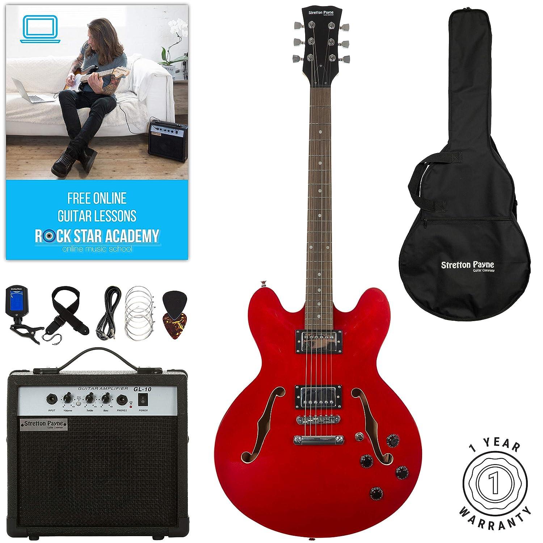 Stretton Payne 335 - Guitarra eléctrica semiacústica con ...
