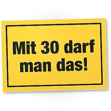 DankeDir!. con 30 años Debe Man el Regalo - Letrero ...